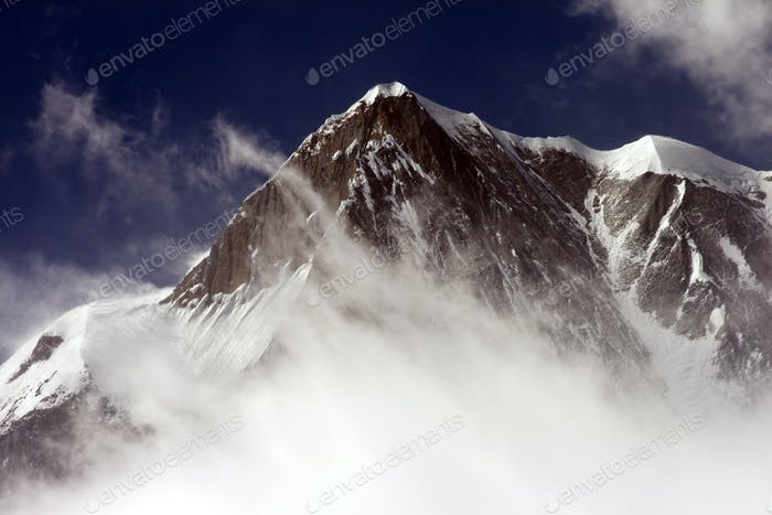 Snow peak mountain