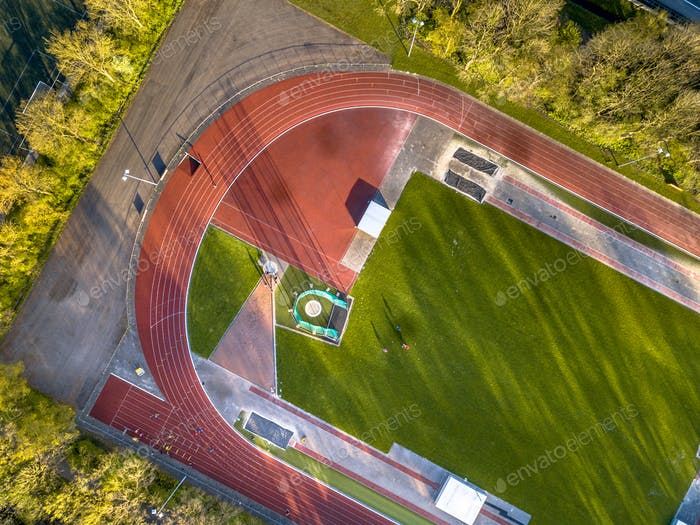 Running athletic track