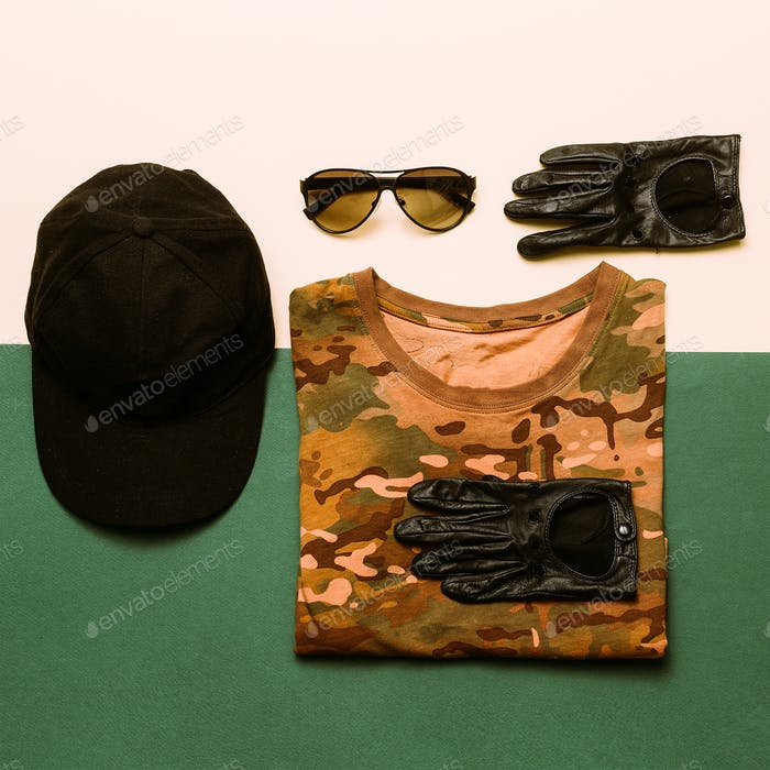 Clothing Set Military style fashion Soldier Outfit Details