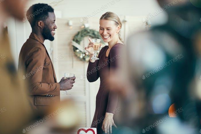 Flirting at Christmas Party