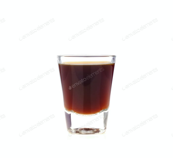 Coffee glass on white background.