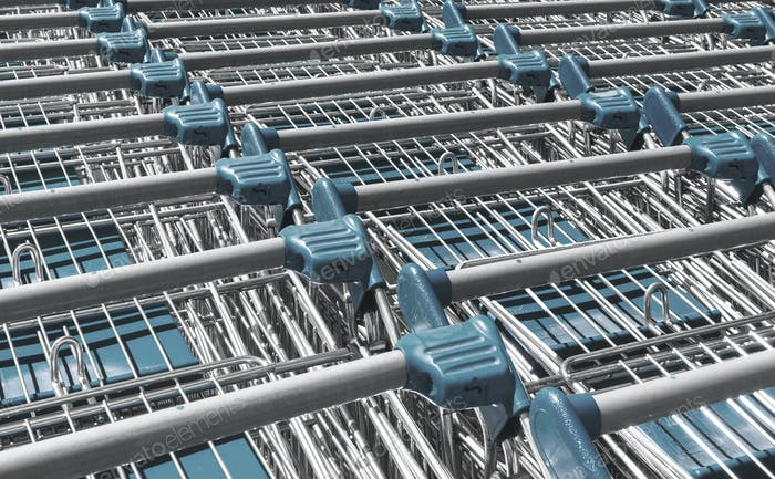 Light blue shopping carts