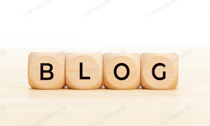 Wooden blocks with text BLOG