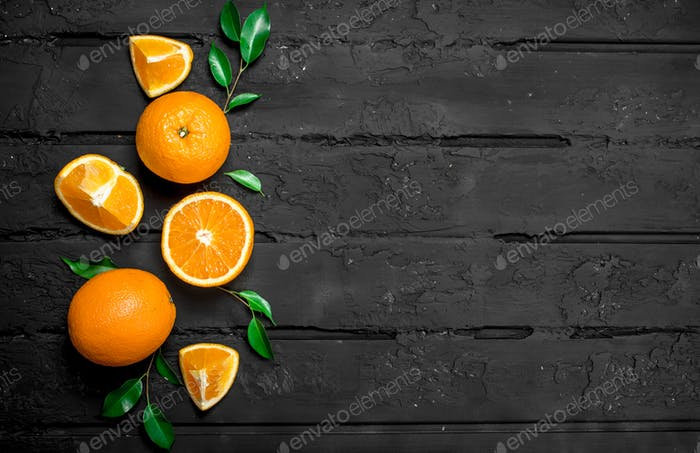 The smell of fresh oranges.