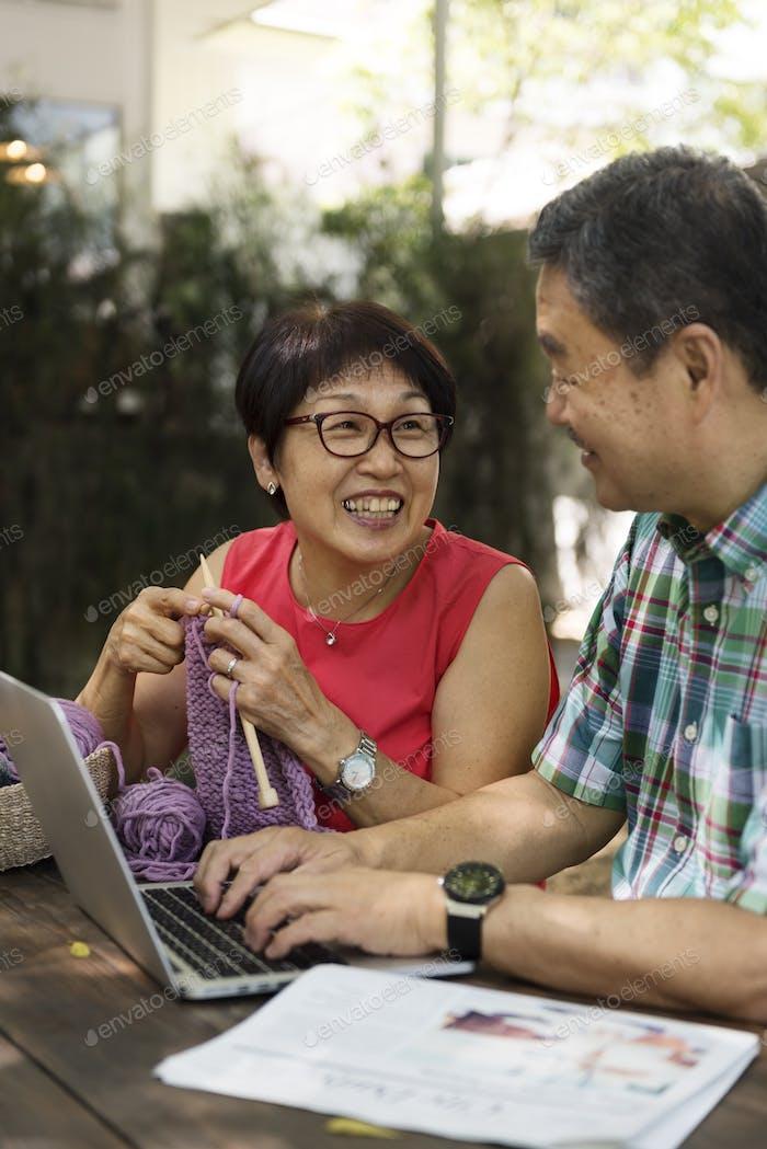 Senior People Couple Love Concept