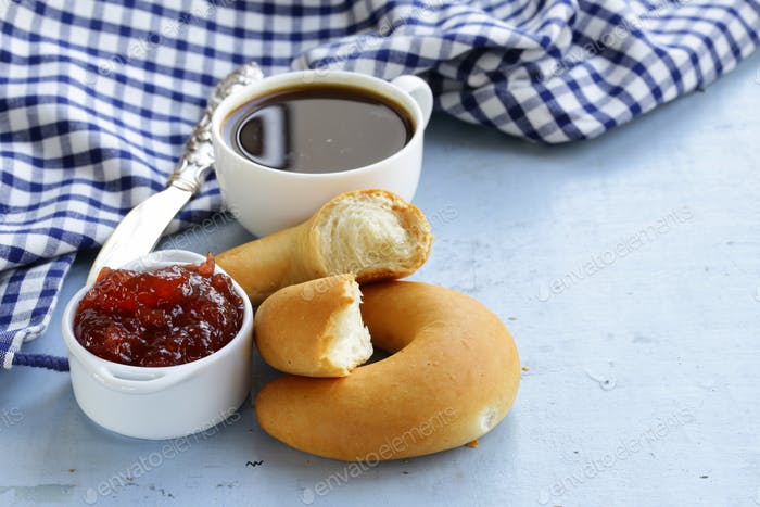Strawberry Jam and Bread Rolls