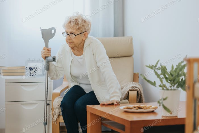 Older disabled woman