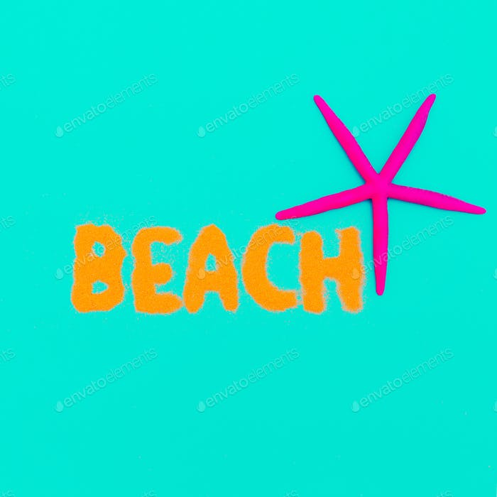 Beach vibes Vacation time minimal art