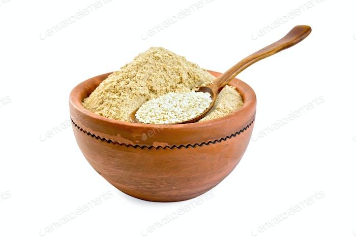 Mehl und Sesam