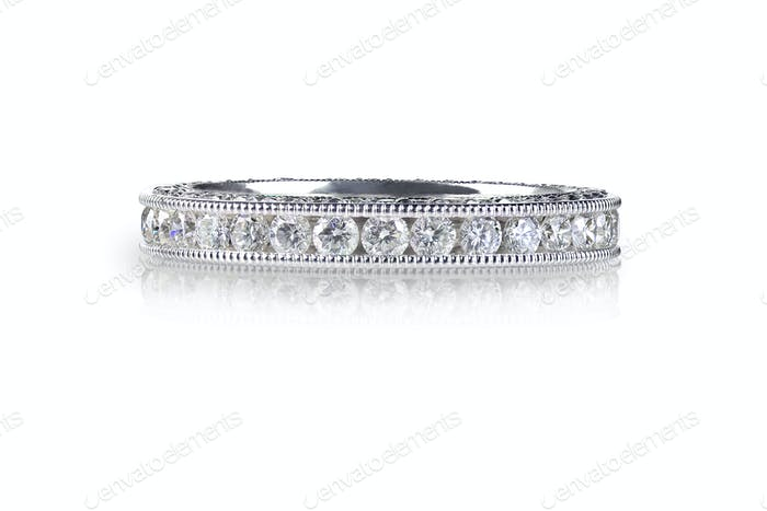 Beautiful Diamond Wedding Anniversary Eternity Band Ring