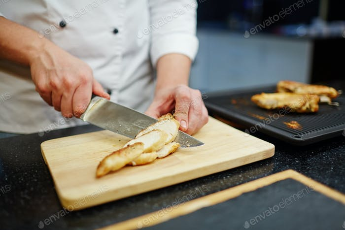Cooked chicken striploin