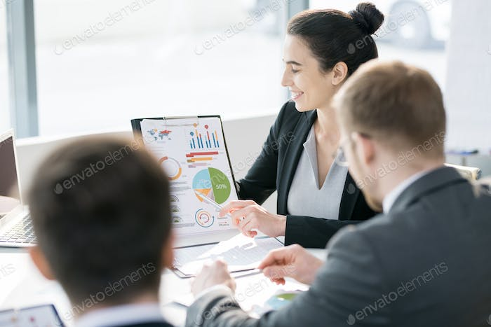 Young Businessman in Marketing Meeting