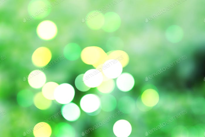 bokeh on green background