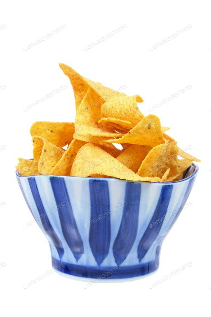 Maischips in Schüssel