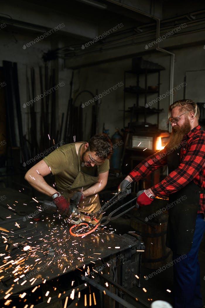 Teamwork of blacksmiths