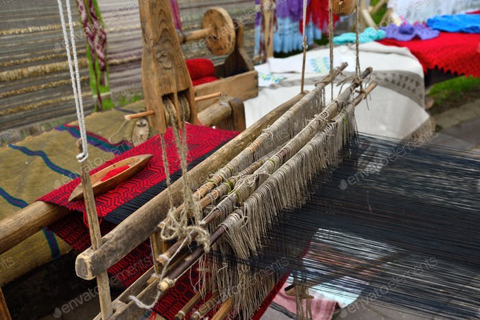 Part of wooden loom