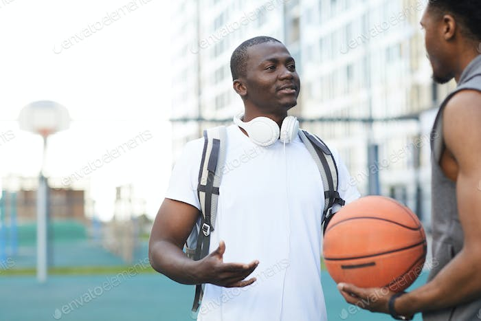 African Basketball players Chatting
