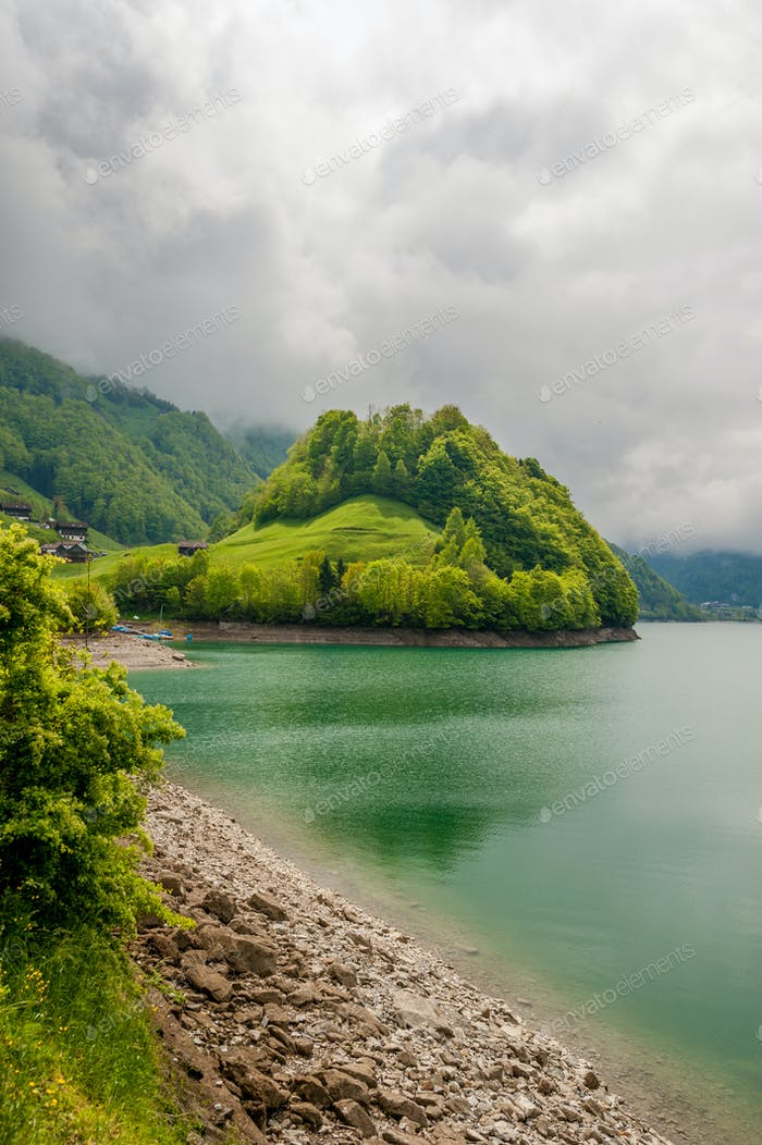 Thumbnail for Lungern lake in Switzerland