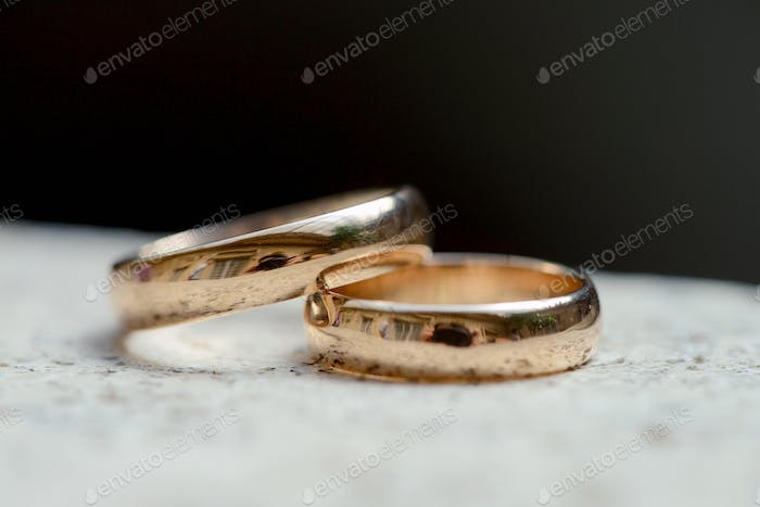 Beautiful wedding rings for bride and groom