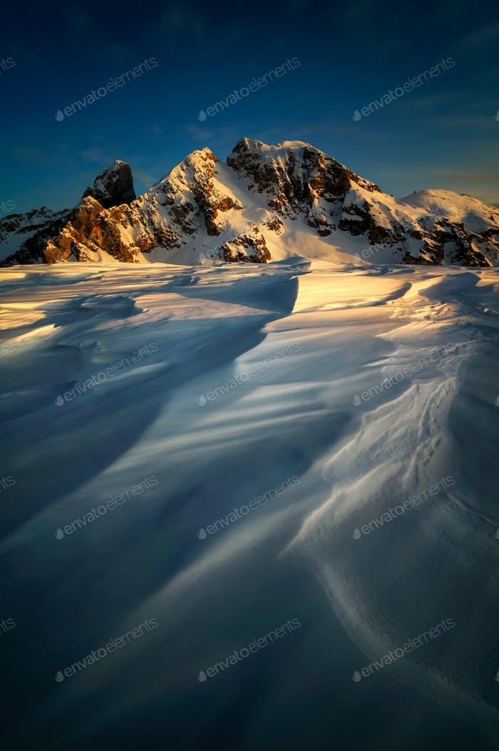 Winterlandschaft des Passo Giau, Dolomiten, Italien