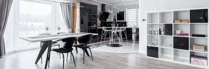 Graphic dining room