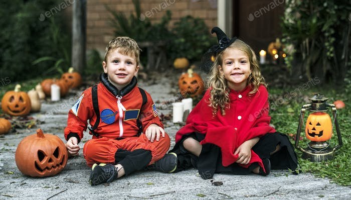 Little kids at Halloween party