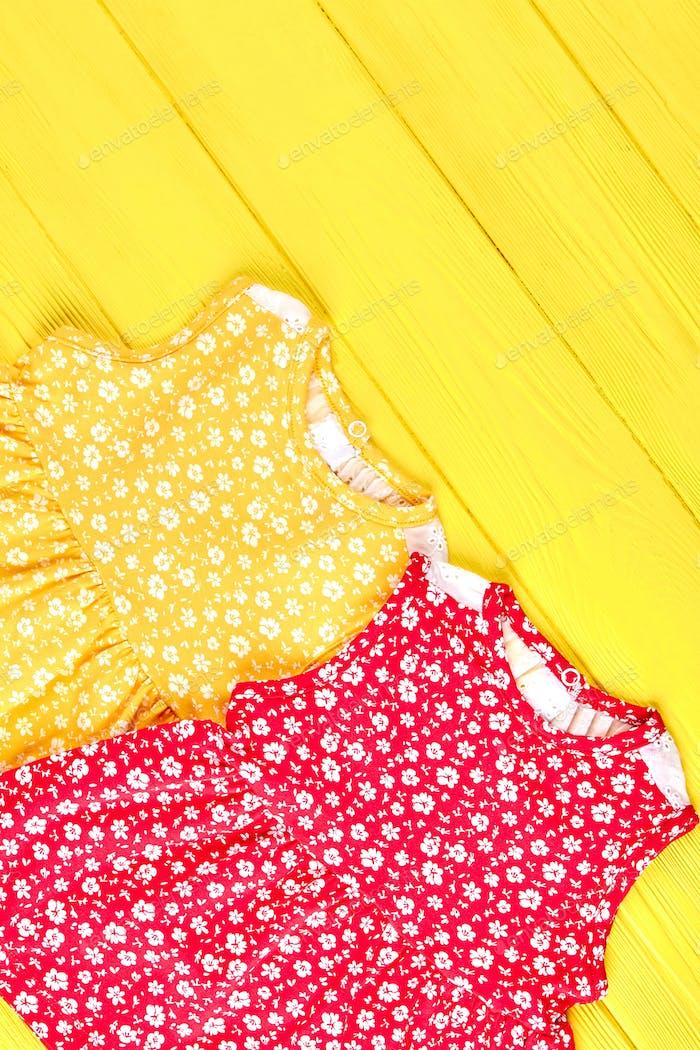 Baby-girl sleeveless summer dresses