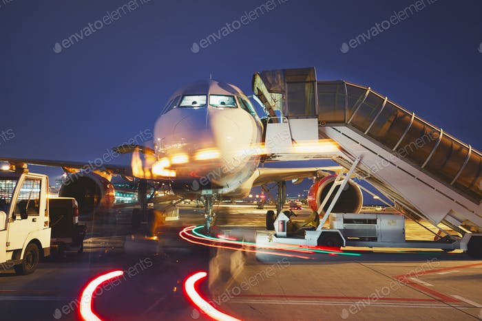 Airport in the night