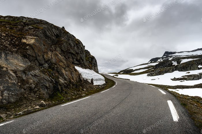 Famous Aurlandsvegen mountain road