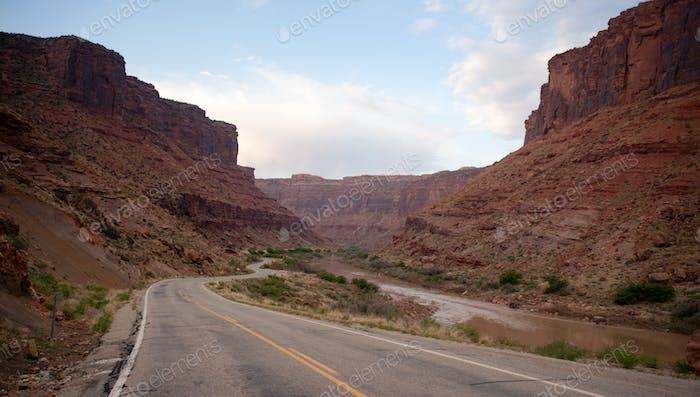 Utah State Route 128 Open Road Colorado River