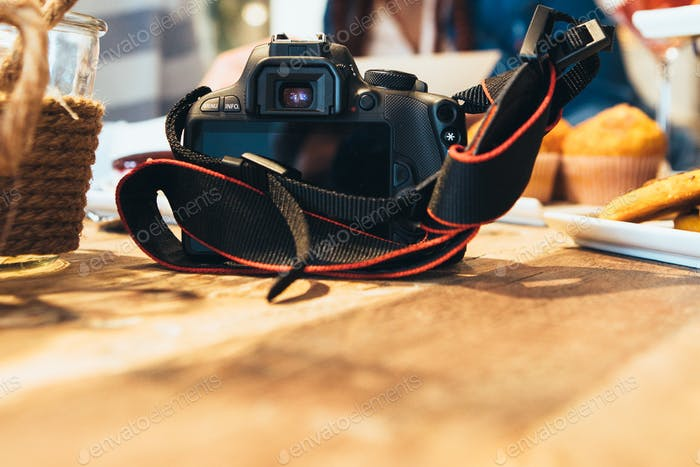 Close up of a photo camera