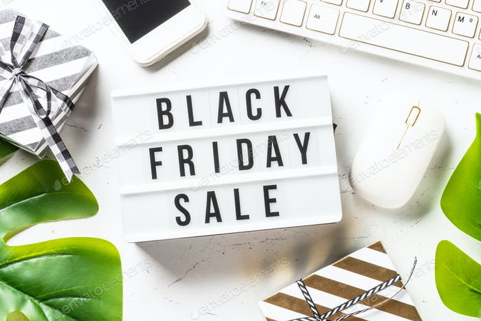 Black friday sale at white.