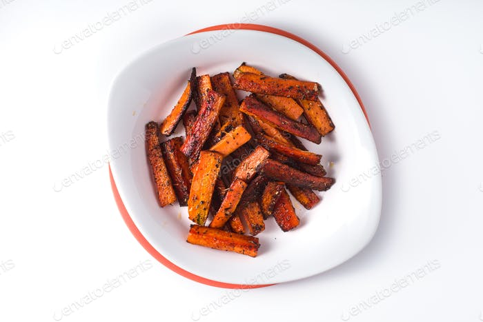 Healthy Homemade Roasted Carrots Ready to Eat