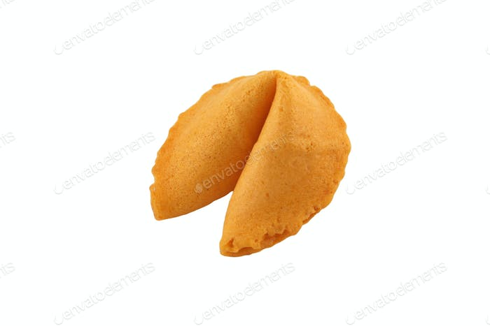 Isolated Fortune Cookie