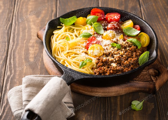 Köstliche Spaghetti Bolognaise