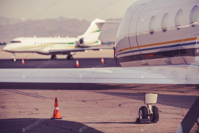 Privatjet-Flugzeug