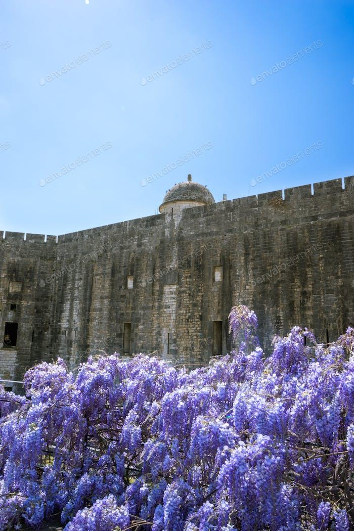 Walls of Corfu new fortress, Greece