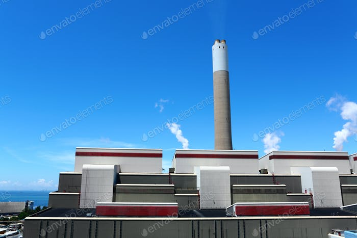 Coal fired electric power station
