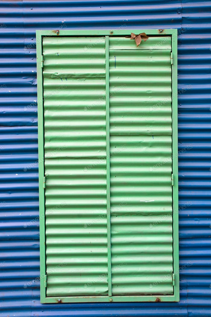 Window with shutters in La Boca