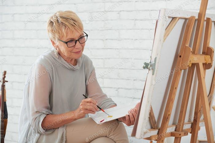 Malerei Dame
