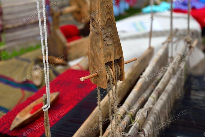 Part of wooden loom