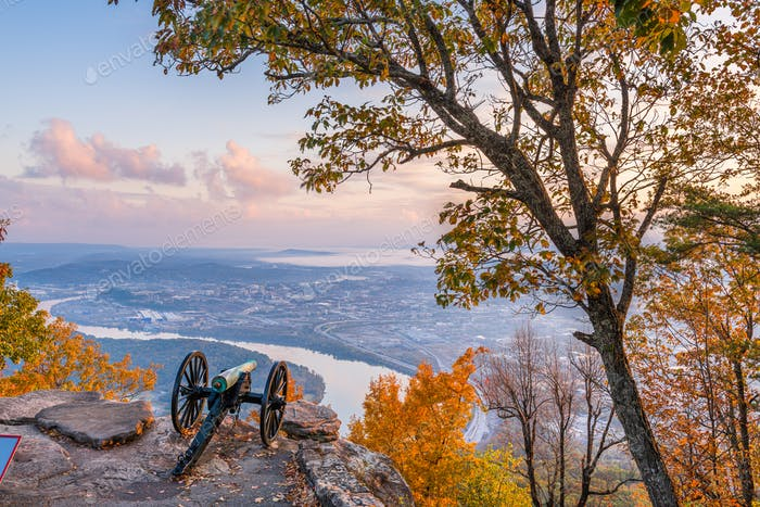 Chattanooga, Tennessee, USA view from Lookout Mountain