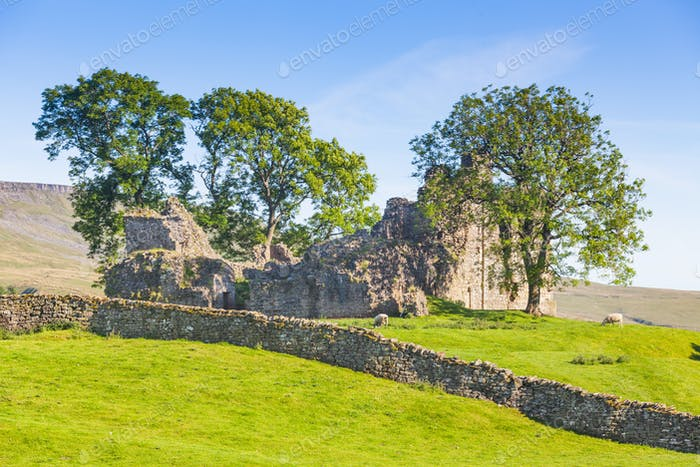 Ancient Castle Ruins in the Yorkshire Dales