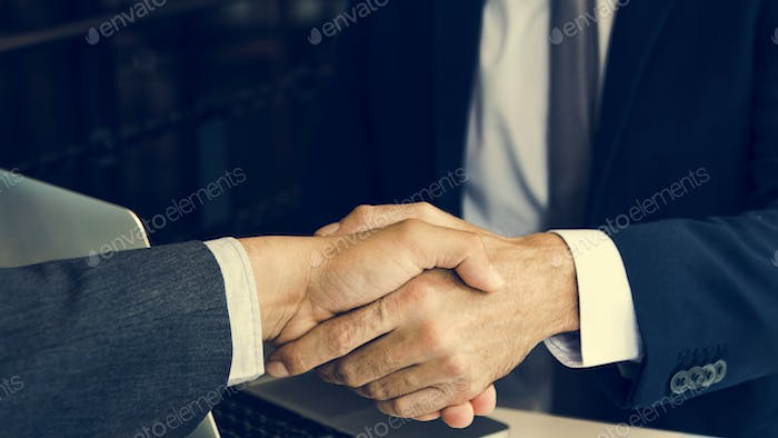 Corporate Business Men Handshake Meeting Concept