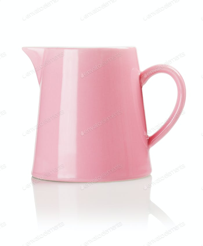 Pink Porcelain Pitcher