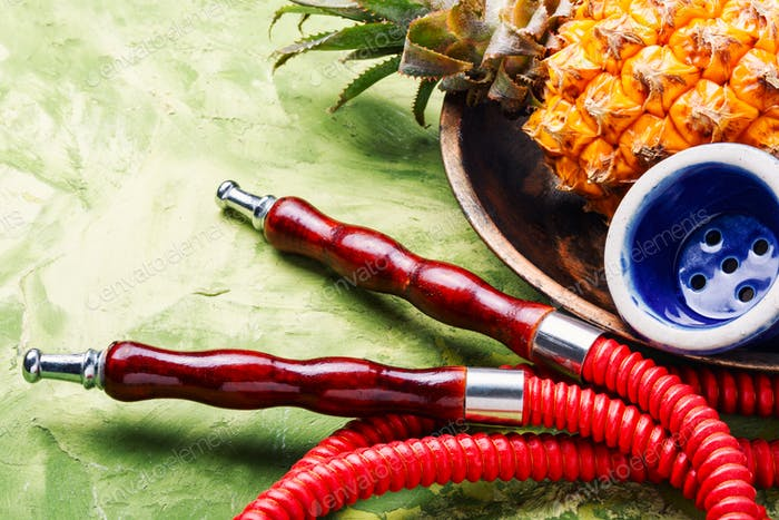 Oriental shisha with pineapple