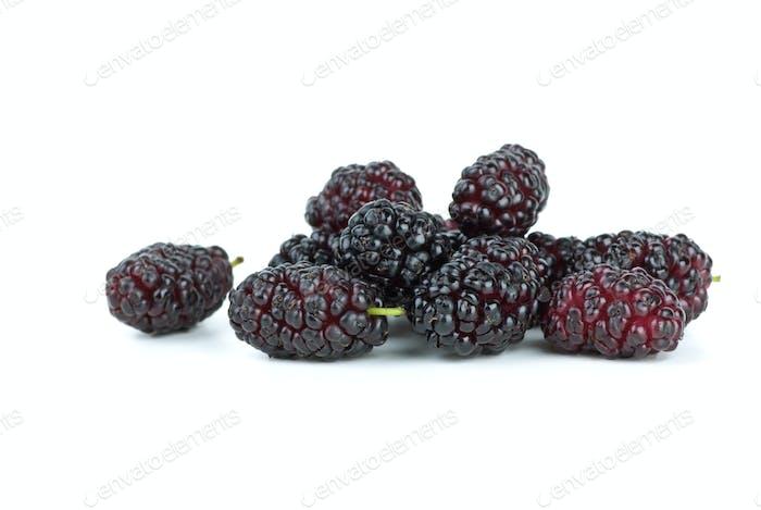 Few black mulberries
