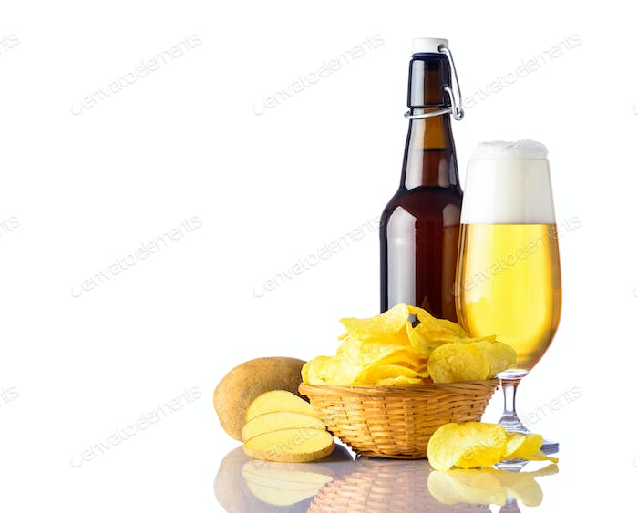 Golden-Beer with Potato-Chips