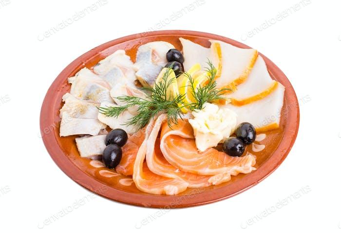 Delicious fish platter.