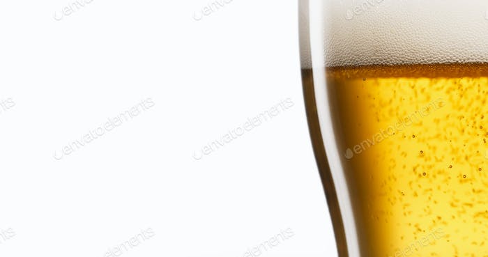Celebration Concept With Cold Beer Pouring Into Glass